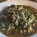 Bulgurlu ispanak (bulgur med spinat)
